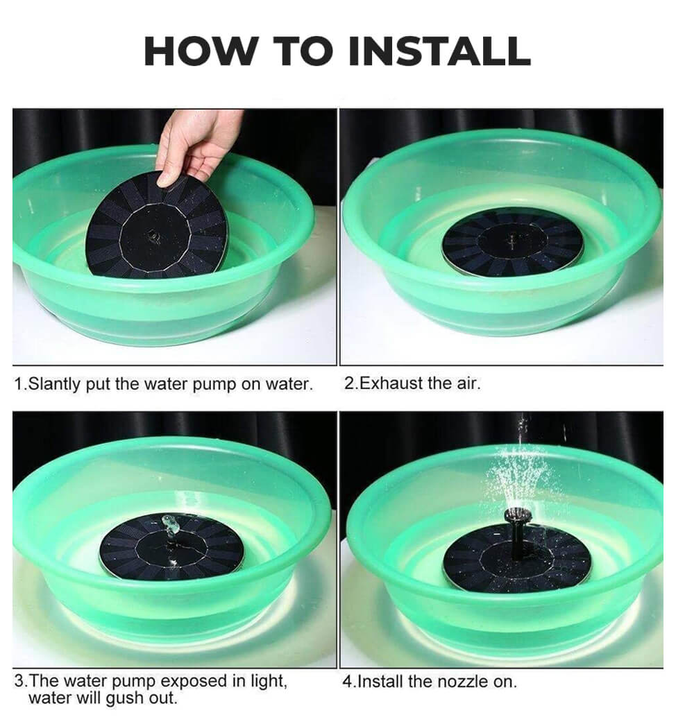 How to Use Solar Water Fountain