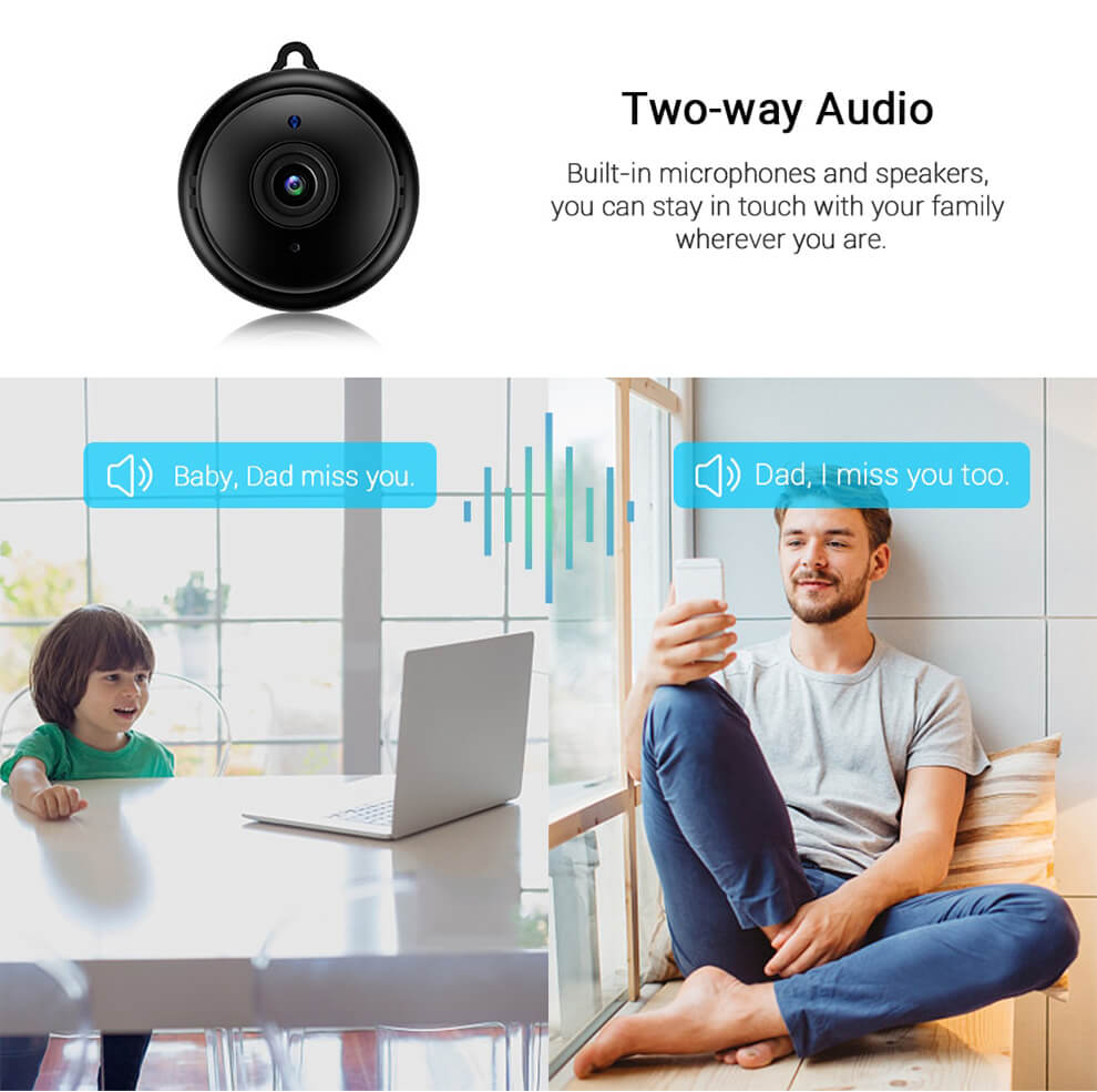 Mini Camera Two-Way Audio