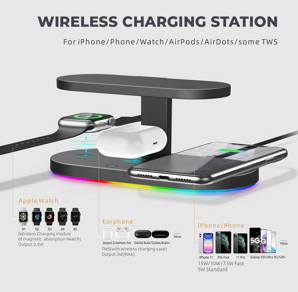 Sanitizing Wireless Charging Station Devices