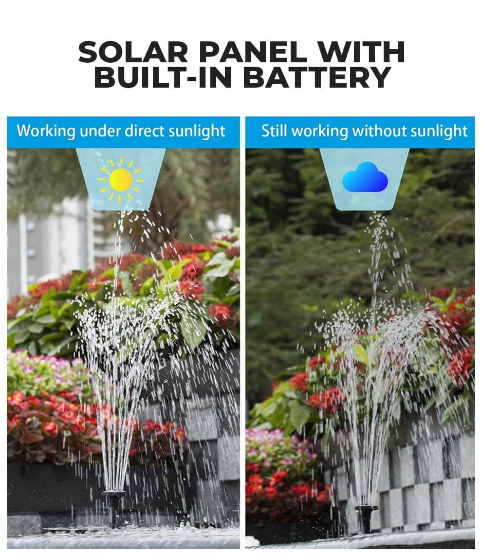 Pump Water Fountain With Solar