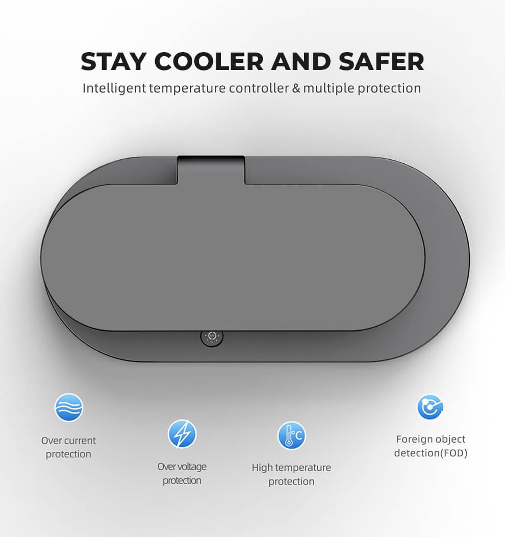 Stay Cooler Safer Sanitizing Charging Station