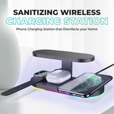 Wireless Charging UV Disinfecting Station