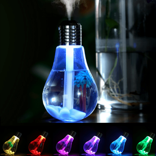 Light Bulb Mist Humidifier