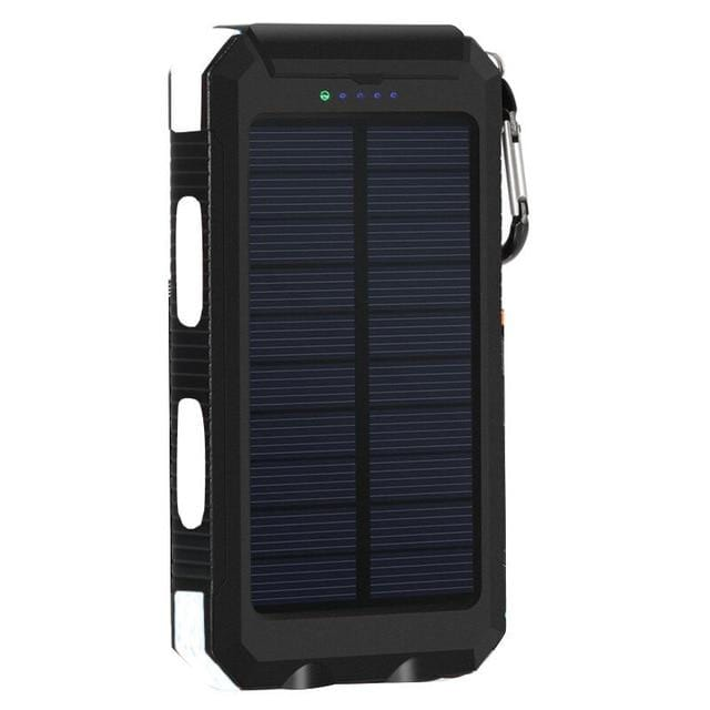 Solar Power Bank Real 20000 mAh Dual USB External Waterproof