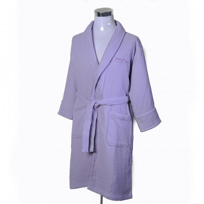 JEAN PERRY TOWELLING BATH ROBE - Dark Plum