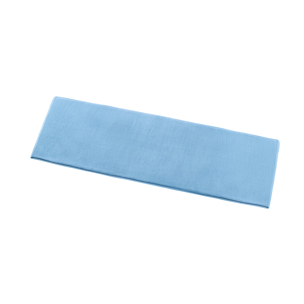 COTONSOFT Porta Memory Foam Floor Runner - Canal Blue
