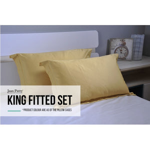 JEAN PERRY COLORIE BEDLINEN - KING FITTED SET
