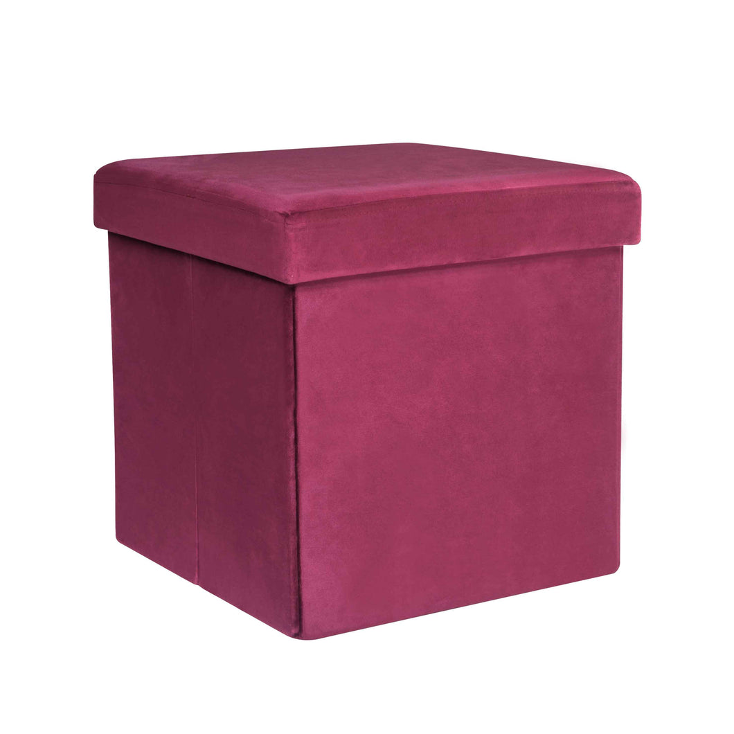 CASA STUDIO JOSSIE STORAGE SUEDE STOOL COLLECTION - SMALL