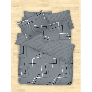 COTONSOFT KORECCA AYDEN GREY BEDSHEET SET