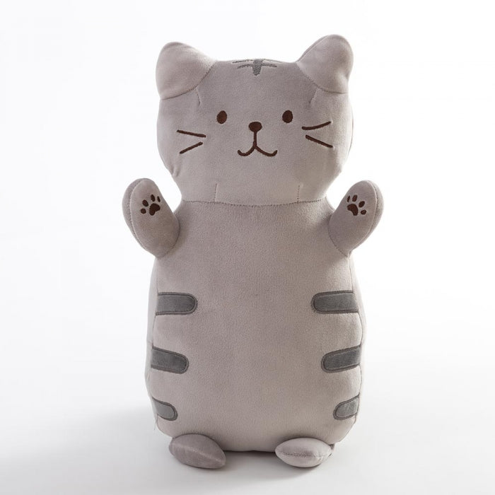 COTONSOFT SAFARI GARDEN CUSHION 50CM STANDING CAT GREY