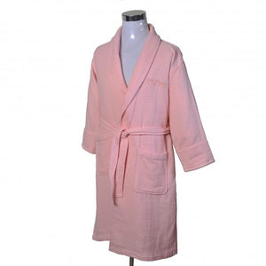 JEAN PERRY TOWELLING BATH ROBE - Gossamer Pink