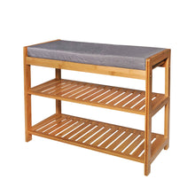 Load image into Gallery viewer, CASA STUDIO ECOWOOD BAMBOO COLLECTION - SHOE RACK WITH SEAT