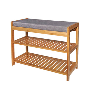 CASA STUDIO ECOWOOD BAMBOO COLLECTION - SHOE RACK WITH SEAT