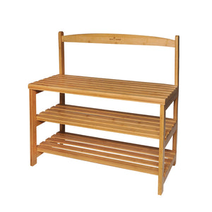 CASA STUDIO ECOWOOD BAMBOO COLLECTION - SHOE RACK WITH CHAIR