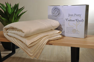 JEAN PERRY 100% Natural Cotton Quilt