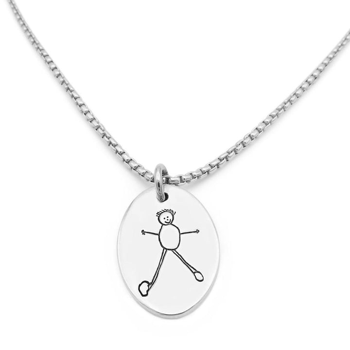 Drawing Necklace - Silver Link-Smallprint Franchising Ltd