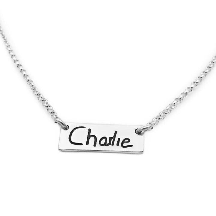 Handwriting Necklace - Signature Tag-Smallprint Franchising Ltd