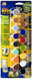 027060056 DELTA CERAMCOAT PAINT SETS-16 COLOR-NO PRIMER METAL PAINT-PKG OF 6