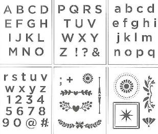 "04833 DELTA STENCIL ALPHABET SAN SERIF 6"" X 7.75"" 6 PIECES-PKG OF 3"