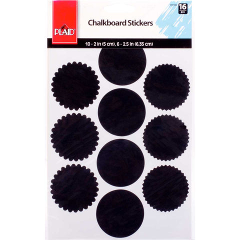 10718E PLAID CHALKBOARD STICKERS-16 PIECES-PKG OF 3
