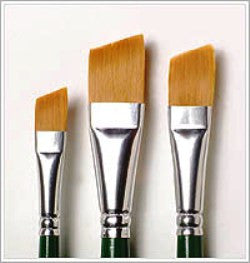 1278 ONE STROKE ANGLE BRUSH SET-PKG OF 3