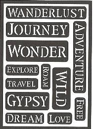 13222 FOLKART PEEL AND STICK STENCIL-WANDERLUST-PKG OF 2