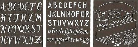 13238 FOLKART LILY AND VALUE STENCIL-MIXED FONTS-PKG 2
