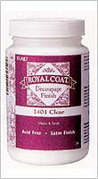 1401 PLAID ROYAL COAT DECOUPAGE FINISH 8 OZ.-PKG OF 6