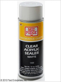 1469 PLAID  MOD PODGE DECOUPAGE CLEAR ACRYLIC SEALER-MATTE-12 OZ.-PKG OF 3