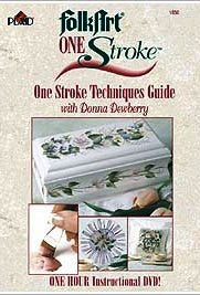 1850 FOLKART DONNA DEWBERRY ONE STROKE TECHNIQUES GUIDE DVD