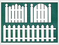 1885A FOLKART PEEL AND STICK ADHESIVE STENCILS-FENCE-PKG OF 1