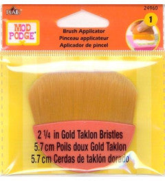 "24960 PLAID  MOD PODGE DECOUPAGE 2 1/4"" GOLD TAKLON BRUSH-PKG OF 3"