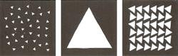 "25621 FOLKART PAINTING STENCILS-TRIANGLES-8"" X 8"" 4 PIECE-PKG OF 2"