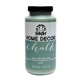 25649 FOLKART HOME DECOR CHALK PAINT SAGE 16  OZ.-PKG OF 3