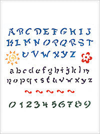28049 PLAID SIMPLY  STENCILS-FUN ALPHABET-5 X 5 MINI LASER STENCIL 2 OZ.-PKG OF 3