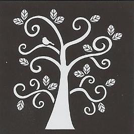30610 PLAID FOLKART PAINTING STENCILS-SMALL-CURLY TREE-PKG OF 3