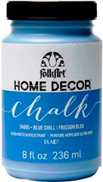 34695 FOLKART HOME DÉCOR CHALK PAINT BLUE CHILL 8 OZ.-PKG OF 3