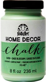 34868 FOLKART HOME DÉCOR CHALK PAINT SAGE BLOSSOM 8 OZ.-PKG OF 3