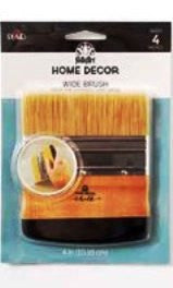 "34910 FOLKART HOME DECOR WIDE BRUSH 4""-PKG OF 3"