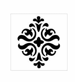 34950 FOLKART HOME DECOR SCROLL MEDALLION STENCIL-PKG OF 3