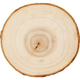 "44943 PLAID WOODEN SURFACES-7"" WOOD ROUND WITH BARK-PKG OF 3"