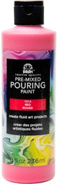 7214 FOLKART PRE-MIXED MARBLING POURING PAINT-RED 8 OZ.-PKG OF 3