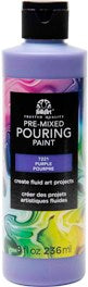 7221 FOLKART PRE-MIXED MARBLING POURING PAINT-PURPLE 8 OZ.-PKG OF 3