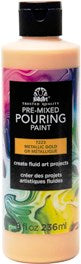 7223 FOLKART PRE-MIXED MARBLING POURING PAINT-GOLD 8 OZ.-PKG OF 3