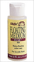 JA868A FOLKART ACRYLIC PAINT FLOATING MEDIUM 2 OZ.-PKG OF 3
