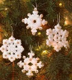 86984 BUCILLA FELT APPLIQUE CHRISTMAS ORNAMENTS-ELEGANT CHRISTMAS SNOWFLAKES-SET OF 16