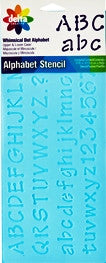 952390012 DELTA STENCIL WHIMSICAL DOT ALPHABET-PKG OF 3