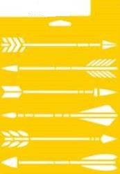 "960030006 DELTA STENCIL ARROWS 7"" X 10""-PKG OF 3"
