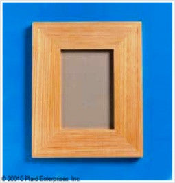 96286E PLAID WOODEN SURFACES-FRAMES-MEDIUM MEMORY FRAME WITH EASEL BACK-PKG OF 3
