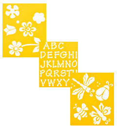 970980056 DELTA STENCIL MANIA 3 PACK FLOWERS-PKG OF 3